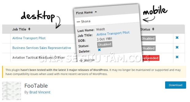 Top 5 Plugins tạo Bảng trong WordPress nên dùng